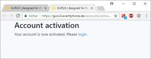Eventphone Account Activation