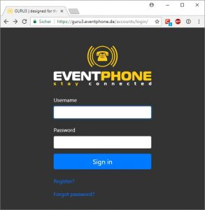 Eventphone Login