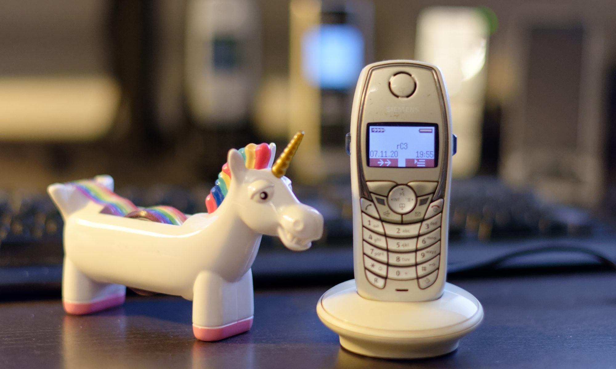 Einhorn & DECT Telefon im rC3 Netz